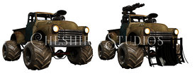 Post Apocalyptic Truck Duo