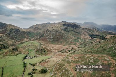 LANGDALE 02A - Aerial view of Little Langdale