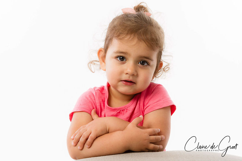 Studio portrait of a little girl