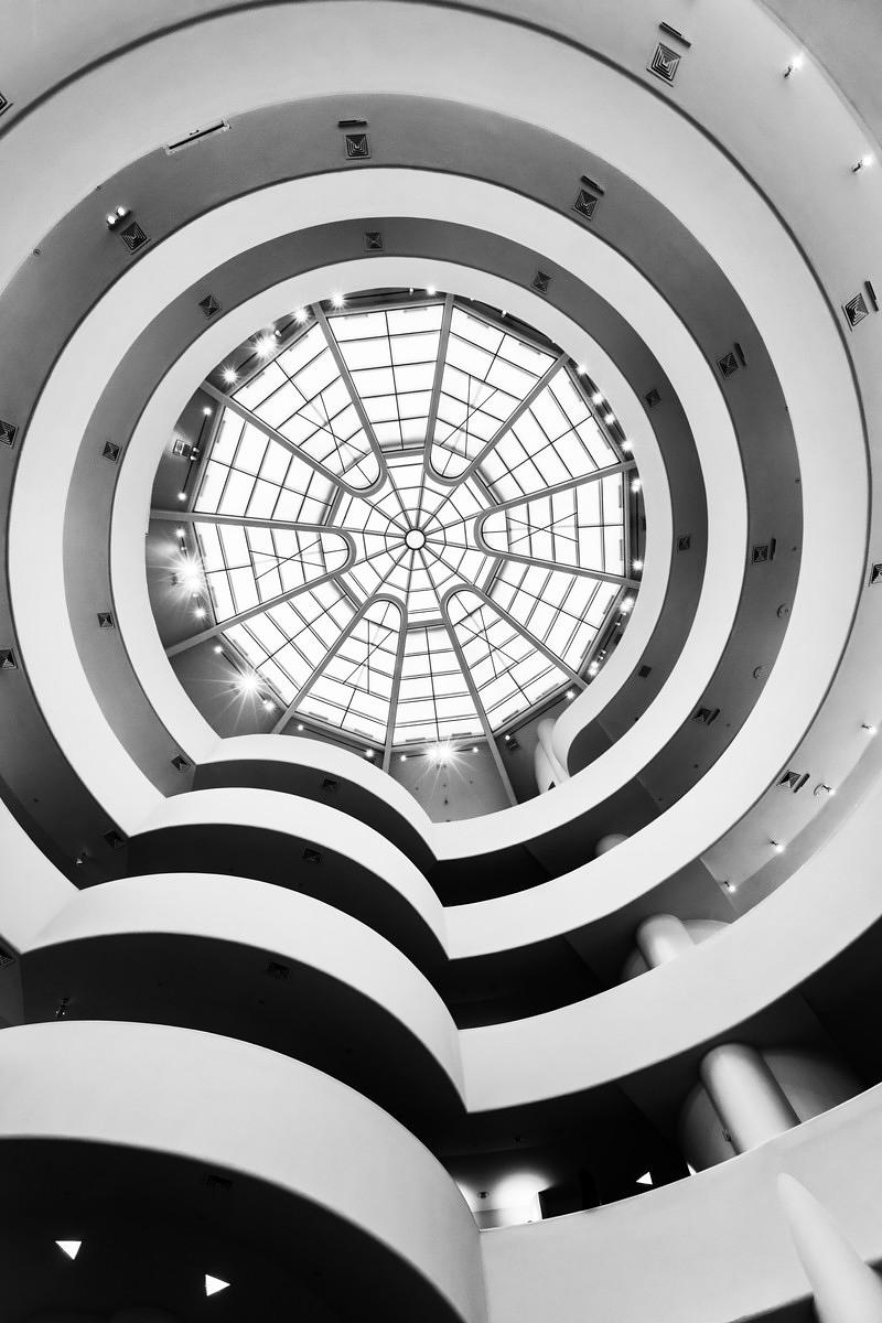 Innenausstattung des Guggenheim Museums, New York City, USA