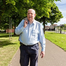 Rosyth, Scotland.20.6.20. .Mr Ron Bowes..For the cover of Home Life magazine on behalf of the Home Group..Ron was runner up i...