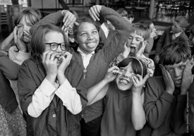 #83676,  Drama class, Whitworth Comprehensive School, Whitworth, Lancashire.  1970.  Shot for the book, 'Family and School, P...