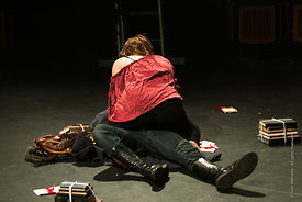#72205,  Dress Rehearsal for Shakespeare's, 'Macbeth', Rose Bruford College, Sidcup, Kent.
