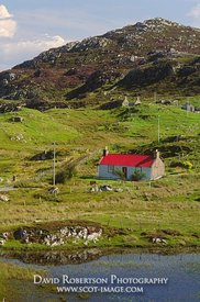 Image - Croft with red roof at Calbost, Lewis, Na h-Eileanan Siar, Scotland