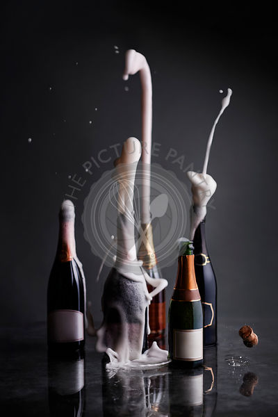 Champagne bottles Popping their corks