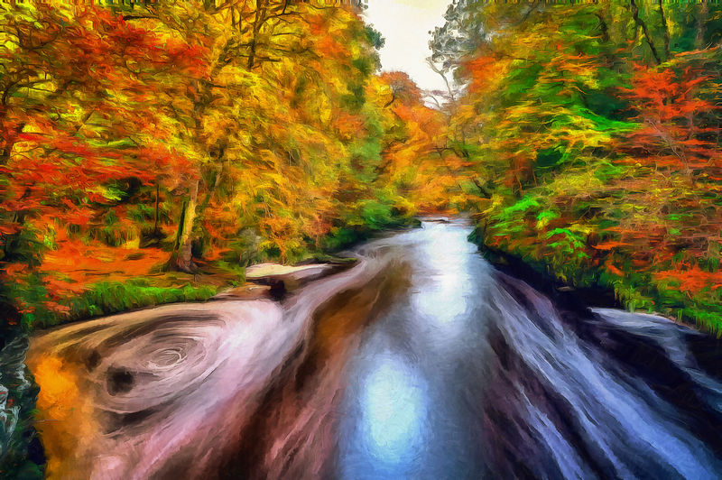 Roe Valley Autumn Painting