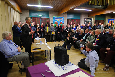Nigel Farage, Brandon, Suffolk, Jason Bye, 25/03/2013