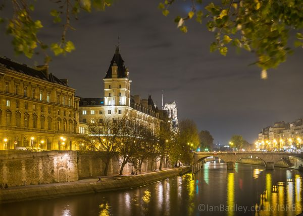 River Seine at night in Paris