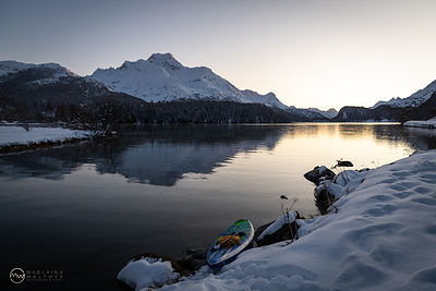 After my chilly SUP session. Lake Sils, Switzerland.
