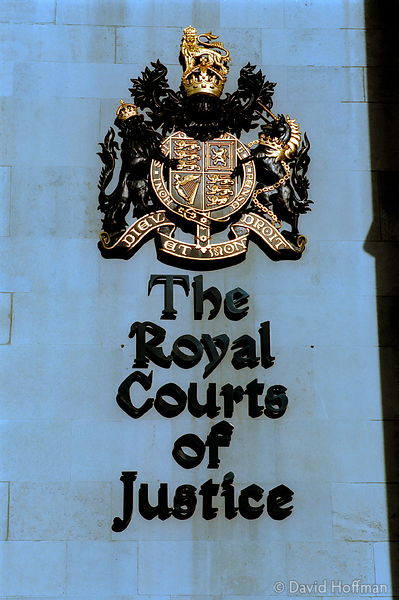 YZ92/26 Royal Court of Justice, The Strand, London.