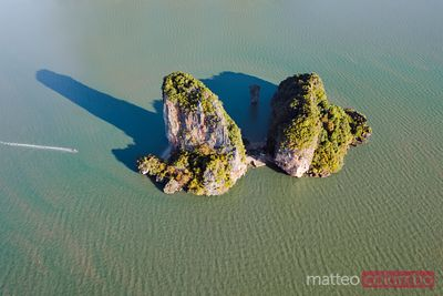 James Bond Island, aerial view, Phang Nga bay, Thailand