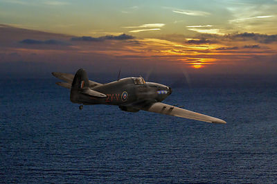 RAF Hurricane night fighter dusk patrol