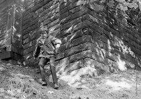 #83753,  Class is taken out to explore the locality, Whitworth Comprehensive School, Whitworth, Lancashire.  1970.  Shot for ...