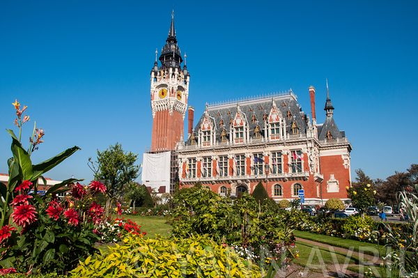CALAIS, FRANCE - OCTOBER 01: City hall of Calais, October 01, 2011.