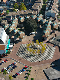 Helmond, the Speelhuisplein marks the spot where the the theather, the Speelhuis, was burned down in 2011  | 306204