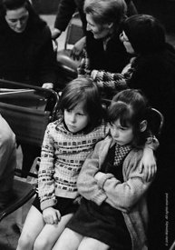 #74745, Anna Scher Children's Theatre, Bentham Court Hall, Islington, North London 1972.  Kids would come after school and be...