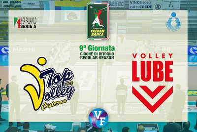 Top Volley CISTERNA - Cucine Lube CIVITANOVA, 9ª giornata, girone di ritorno regular season, Superlega Credem Banca, Campiona...