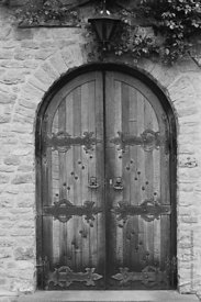 #120117,  Ancient door at Ladywell Convent, Godalming, the Motherhouse of an International Catholic Religious Congregation – ...