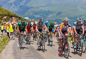 The Peloton in Mountains -Tour de France 2013