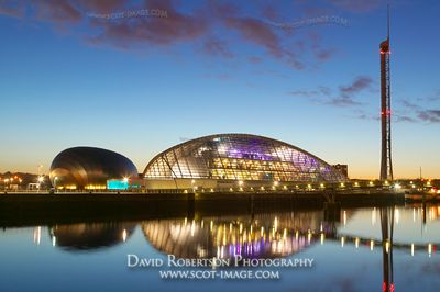 Image - Glasgow Science Centre, Glasgow Tower, River Clyde, Scotland.
