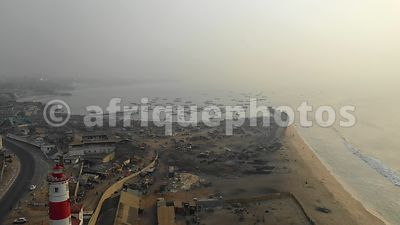 Jamestown,, Accra from above, drone video
