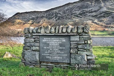 GLENRIDDING 10B - Donald Campbell commemoration plaque