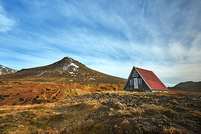 Iceland | Emergency hut | Large canvas wall art