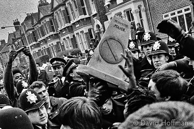 YE7-12-1 Protests in Newham over the high level of arrest and harrassment of Asian youth. May 1985.