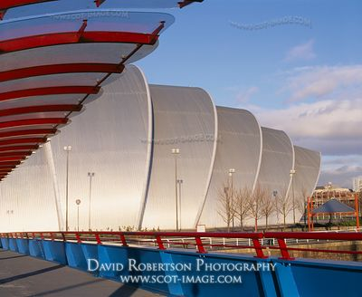 Image - Bell's Bridge, SECC, Armadillo, Glasgow, Scotland.