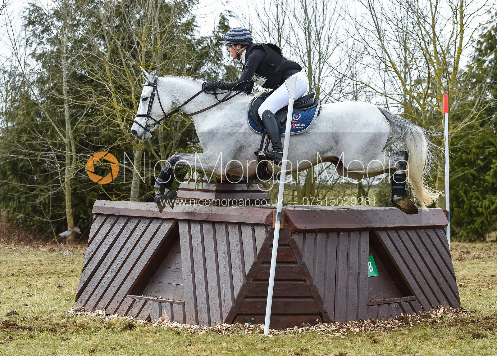 Logan Duffort and VOLTAGE DE LA NOUEE - Intermediate Sections - Oasby Horse Trials, March 2018.