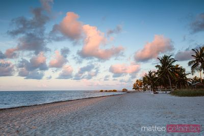 Beach in Key West at sunset, Florida, United States