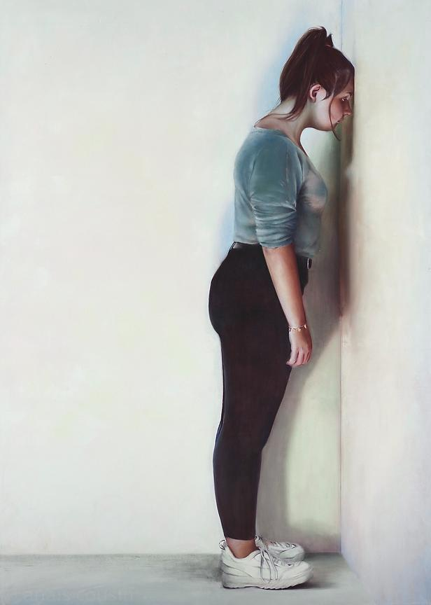 Mur, 2019, Oil on canvas, 200x135cm