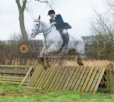 Willie Reardon jumping a hunt jump after the meet