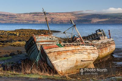 ISLE OF MULL 78A - Old boats, Salen