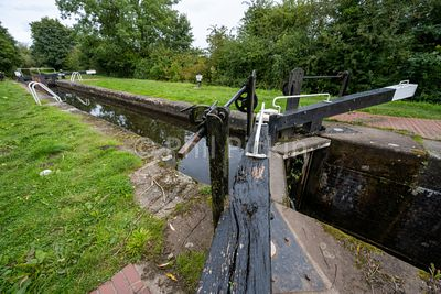 Lock 3 on the Montgomery Canal in Shropshire