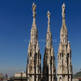 Three of the Duomo spires.