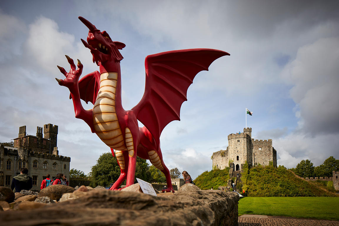 Cardiff Castle dragon