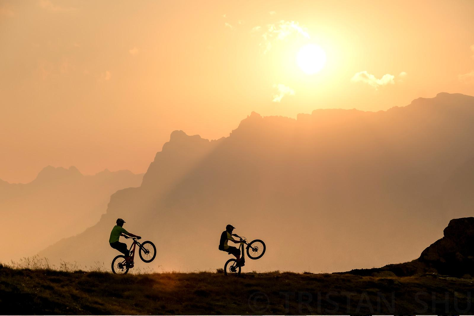 Wheeling at Sunset with Nick gowan and Gael Wirz