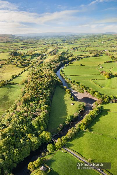 MIDDLETON 03A - Aerial view of the River Lune