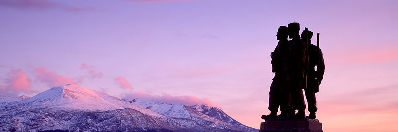 Image - Commando Memorial at Spean Bridge, Scotland, Panoramic