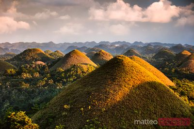 Dramatic light over Chocolate hills, Bohol, Philippines