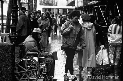 disabled man begging