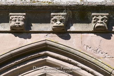 Image - Gargoyles on Brechin Cathedral, Brechin, Angus, Scotland