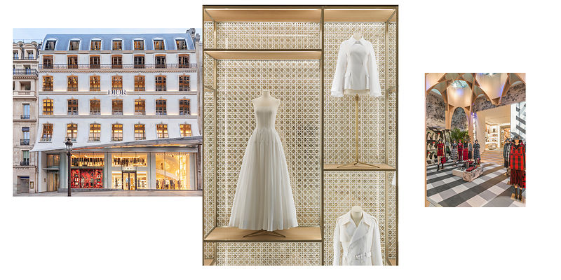 PHOTOGRAPHE BOUTIQUE PARIS : DIOR FLAGSHIP CHAMPS ELYSEES PARIS