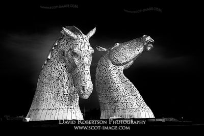 Image - The Kelpies, Helix, Falkirk, Scotland. Sculptures by Andy Scott.