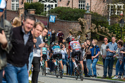 Group of Cyclists- Tour of Flanders 2019