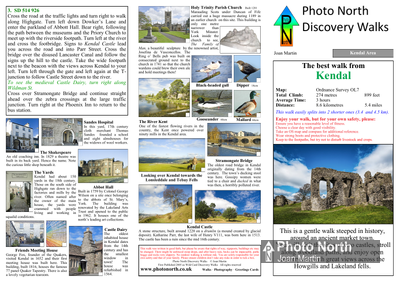 Kendal walk - Two page PDF file