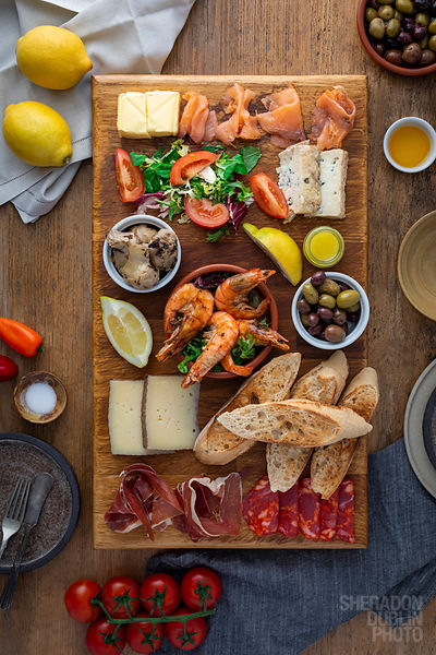 Tapas Food Photography by Sheradon Dublin