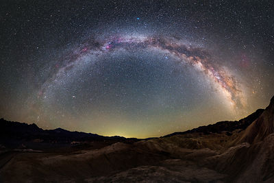 Milky Way from Zabriskie Point in Death Valley