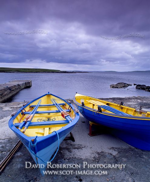Image - Traditional two-prowed Yoal fishing boats, Yell, Shetland